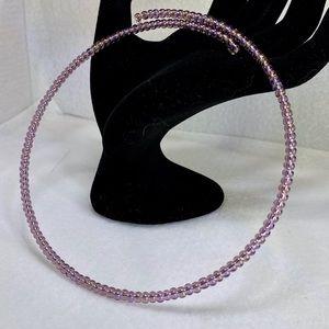 NWOT Czech glass amethyst color seed bead bracelet